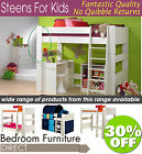 Steens WHITEWASH Highsleeper, Midsleeper, Bunk Bed, Bookcase, Desk, Chest ....