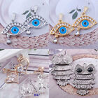 clear crystal rhinestone evil eye heart pendant ball bead charm night owl jewel