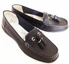Women's New Matte Black Leather Slip On Tassel Loafer Shoe Size 3 4 5 6 7 8