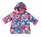 TOBY TIGER Multi Flower Cotton Lined Raincoat Girls Rain Jacket Coat BNWT
