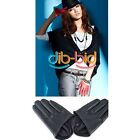 Fashion Sex and The City PU Leather Women Five Finger Half-Palm Gloves
