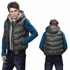 New Men's Hooded Vest Casual Waistcoats Warm Winter 5 Colors M-XXL MWM003