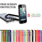 iPHONE 5 BUMPER CASE COVER -PREMIUM QUALITY WITH METAL BUTTONS+ Screen Protector