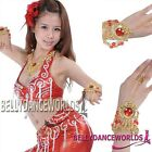 BELLY DANCE COSTUME JEWELRY NECKLACE BRACELETS GOLD TONE BOLLYWOOD DANCING PROPS