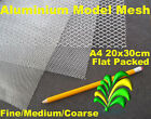 A4 Sheets of Aluminium Modelling Mesh - Fine Medium Coarse and Combi Packs