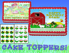 FARM ANIMALS TRACTOR Edible Cake & Cupcakes Topper image SHEET picture sugar cup