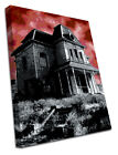 0167 Horror Canvas Dark Evil  Movie Scary House Wrapped Around a Pine Frame