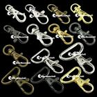 "10 20 50 100 X Metal Swivel Lobster Clasps Clips Snap lanyard 3/8"" 5/8"" 5/16"" 1"""