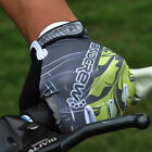Brand NeGel Cycling Bike Bicycle Full Finger Gloves Grey Green Color Size M - XL