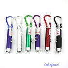 Flashlight UV Torch Laser Pointer Beam LED Infrared IR 3 in 1 Keychain