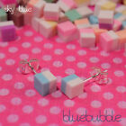MICRO MINI 5mm CANDY STYLE EARRINGS SWEET RAINBOW DOLLY MIX RETRO KITSCH CUTE