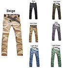 New Fashion Men's Stylish Designed Straight Slim Fit Trousers Casual Long Pants