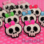 FUNKY PUNK GIRL SKULL EARRINGS PICK COLOUR KITSCH CUTE RETRO GOTH EMO POP PIRATE