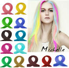 """2 Pcs  Streak 19"""" Clip in Hair Extensions Synthetic Hair Multi colors"""