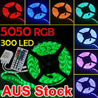 Waterproof 5050 RGB 5M 300 LED SMD LED Strip Light 12V Waterproof + IR Controlle