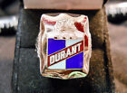 Classic 1920s Style DURANT MOTORS CO SHIELD LOGO Closionne Nickel Silver Ring