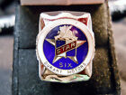 Classic 1920s Style STAR SIX DURANT MOTORS CO LOGO Closionne Nickel Silver Ring