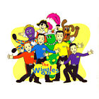 """THE WIGGLES #4 T-SHIRT IRON ON TRANSFER 3 DESIGNS FOR """"DARK"""" COLOR FABRICS"""