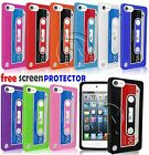 RETRO TAPE CASSETTE SILICONE CASE GEL FOR APPLE IPOD TOUCH 5 5TH GENERATION