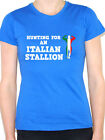 HUNTING FOR AN ITALIAN STALLION - Italy / Muscle Man Themed Womens T-Shirt