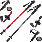 AntiShock Trekking Hiking Walking Stick Pole with Compass 2 Colors