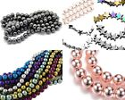 Hematite Loose Or Strand Round Or Shaped Beads Jewellery Making Crafts 4mm-10mm