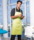 PREMIER COLOURS BIB APRON WITH POCKET (PR154) -28 COLOURS-BBQ/KITCHEN/WAITER