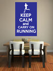 Keep Calm and Carry On Running - Athletics/Jogging Themed - Wall Art Design