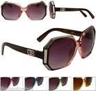 NEW D.E SUNGLASSES DESIGNER WOMENS LADIES GIRLS LARGE BLACK UV400 VINTAGE G-99