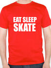 EAT SLEEP SKATE - Snow / Ice / Sport / Novelty / Humorous Themed Men's T-Shirt