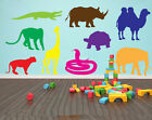 Animals Childrens/Kids Mixed Wall Art Stickers Silhouettes, Various Colours