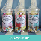 PERSONALISED RETRO SWEETS VICTORIAN JAR PARTY WEDDING BIRTHDAY GIFT FAVOUR