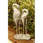 "27"" tall Two Storks Statue - Folk Art Statuary - Durable Fiberstone Yard Art"