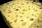 Green Leaf PVC Tablecloth ALL Sizes Wipe Clean Vinyl Oilcloth Top Quality