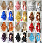 Promotion! 15 color Fashion New wonderful long curly women's full Party wig 80cm