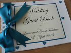 PERSONALISED WEDDING GUEST BOOK HEART THEME WEDDING GUEST BOOK