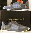 Mens Nicholas Deakins Designer Sprint Grey Patent Trainers Sneakers sizes 6-11