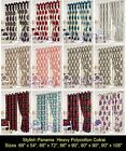 """Polycotton Ready Made Fully Lined Pair + Curtains Tie Back 66"""" 54 """" 72"""" 90"""" 108"""