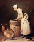 Art Photo Print - Scullery Maid - Chardin Jean Baptiste Simeon 1699 1779