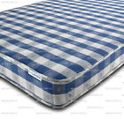 BUDGET MATTRESS CHEQUERED 2FT6,3FT SINGLE,4FT SMALL,4FT6 DOUBLE CHEAP MATTRESSES
