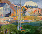 Art Photo Print - Watermill In Pont Aven - Gauguin Paul 1848 1903