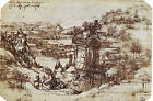 Art Photo Print - Tuscan Lndscp Drawing - Vinci Leonardo Da 1452 1519