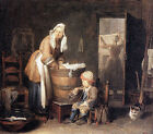 Art Photo Print - Laundry Woman - Chardin Jean Baptiste Simeon 1699 1779