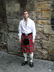 Great Gift: 8 Yard Men's Deluxe Polyviscose Tartan Kilt Multiple Colours & Sizes