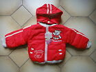 BNWT Bear Boys Warm Hooded  Jacket Size 1,2,3