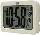 LCD Wall Clock with Time, Date, Day and Temperature display • Black or White