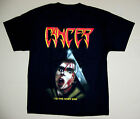 CANCER TO THE GORY END'90 DEATH DISINCARNATE OBITUARY DEICIDE BLACK T-SHIRT