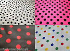 Polka Dot Poly cotton Fabric Material Per Mtr Smal Size Spot Minnie Mouse Craft