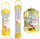 BIRD SEED FEEDER GARDEN HANGING MULTI LISTING STANDARD/LARGE & SQUIRREL GUARD!