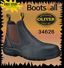 Oliver Steel Toe Work Boots 34626 Brown Pull On Brand New *All Sizes